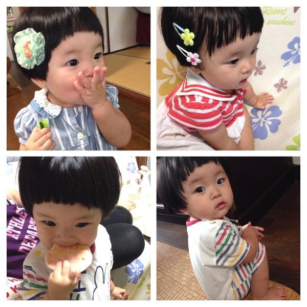 赤ちゃんの髪型