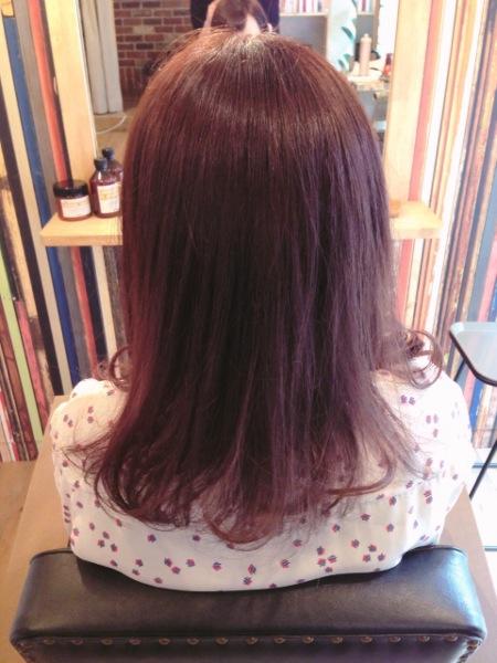 髪の色ピンクバイオレット