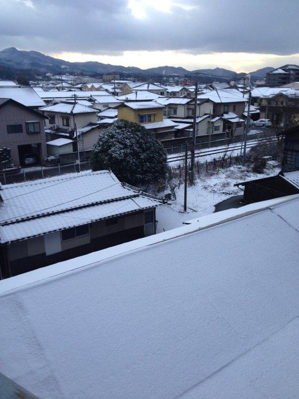 大分の大雪