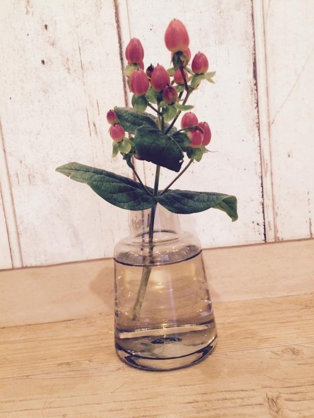美容室に飾ってある花