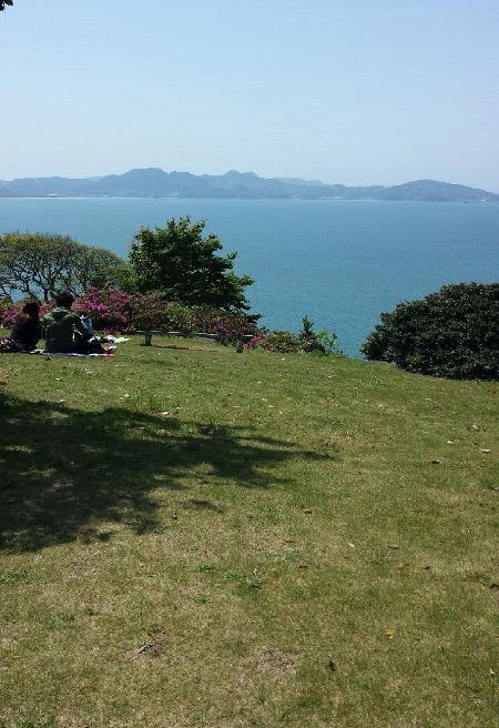 能古島の全景写真