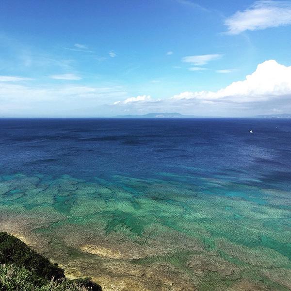 海は初めて見ました